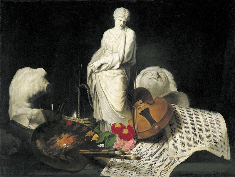 Pierre Subleyras, Fantaisie d'artiste ou Les Attributs des Arts ou Les Cinq Sens